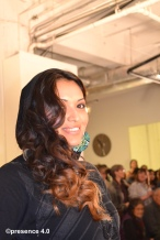 Shaylin Shabi, Miss Native American USA poses on the runway.