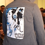 Epitome of ear candy, a jacket from Jared Yazzie's OXDX clothing line.
