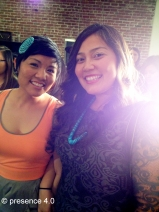 presence 4.0 ladies: (L-R) Chelsea Chee and Jaclyn Roessel.