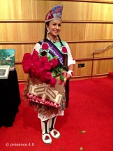 Sarah Ortegon of the Eastern Shoshone and Northern Arapaho Tribes from Denver, Colorado. The 2013-2014 Miss Native American USA