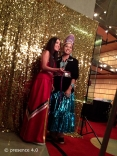 2012-2013 Miss Native American USA, Shaylin Shabi (on right) with her 1st Attendent, Sage Honga, at the Social Station photo booth.
