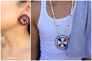 Beaded jewelry from Amanda Dru and Devante