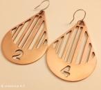 Blood Quantum earrings by Kristen Dorsey