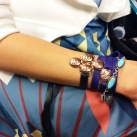 Layering KDD with model's bracelet.