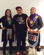 Confluence's Fashion show designers on its opening night. L-R, D Martin, Jared Yazzie, Kevin Dakota Duncan.